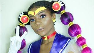 ThouArtAnuli: DIY Sailor Moon Pigtails Wig! BlackGirlMagic + Short Film | DIY Tuesday