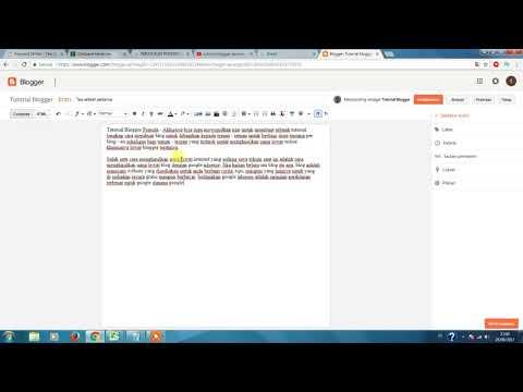 Tutorial blogger pemula - Cara membuat postingan / artikel    How to Create a Post on Blogger