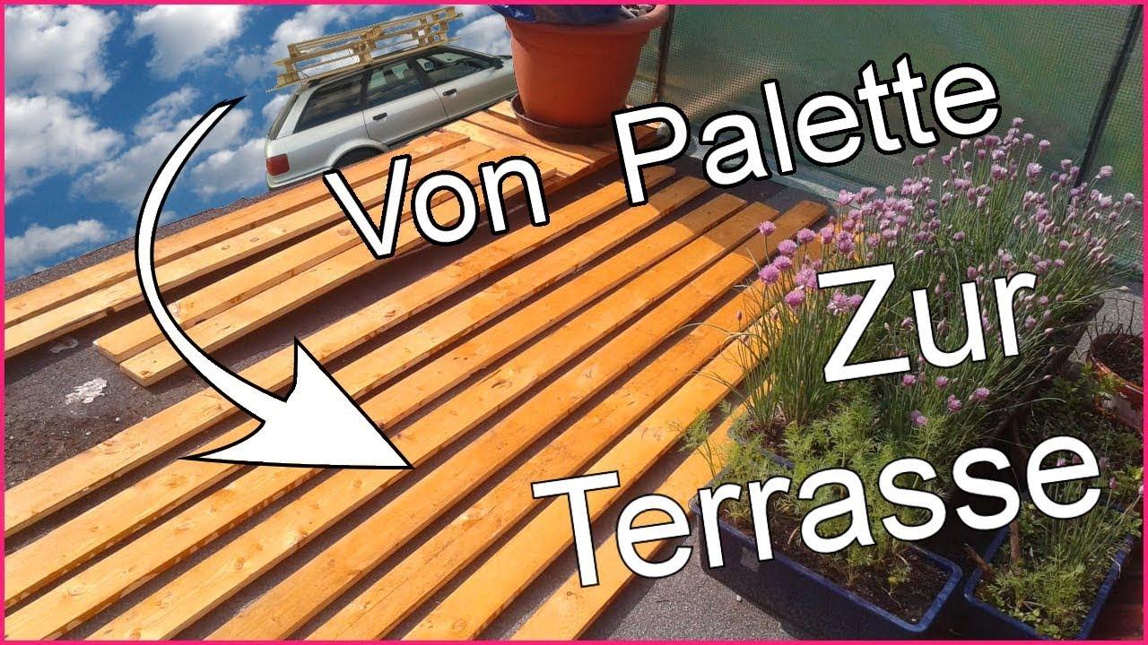 Boden Fur Terrasse Aus Ein Paar Paletten Youtube