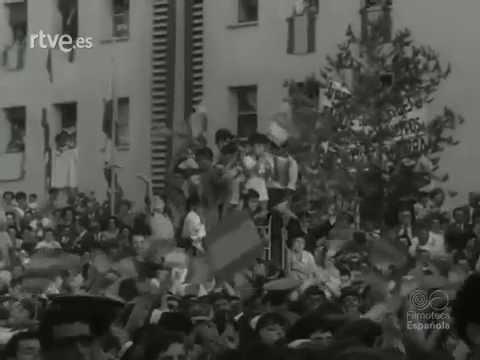 Visita de Franco a Montserrat i Martorell, juliol 1966