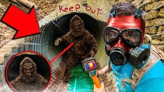 BIGFOOT Found In REAL LIFE SECRET TUNNEL! Using Box Fort, SPY GADGETS 😱 (Sasquatch)