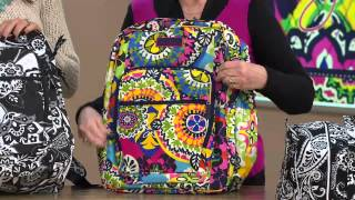 Vera Bradley Signature Print Lighten Up Large Backpack with Courtney Cason