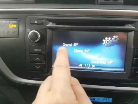 How to change Satellite Navigation volume on Toyota Auris Touch Go Media System