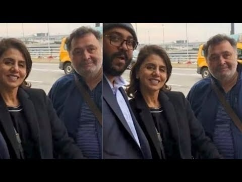 Rishi Kapoor and Neetu Kapoor finally head home to Mumbai   SpotboyE Mp3