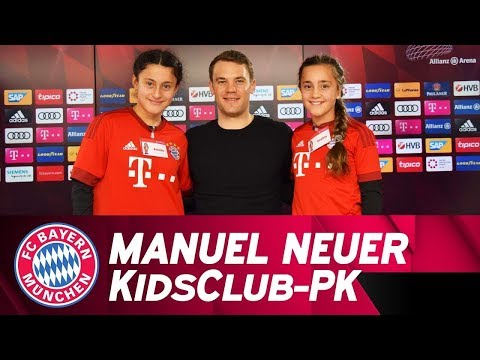 """""""I wanted to play outfield"""" - Manuel Neuer answers FC Bayern KidsClub questions 🗣️👦👧"""