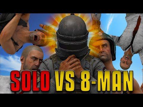 SOLO VS 8-MAN SQUADS | PUBG Challenge