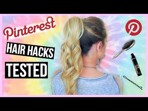 Pinterest HAIR Hacks Tested!
