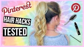 One of Carrie Dayton's most viewed videos: Pinterest HAIR Hacks Tested!