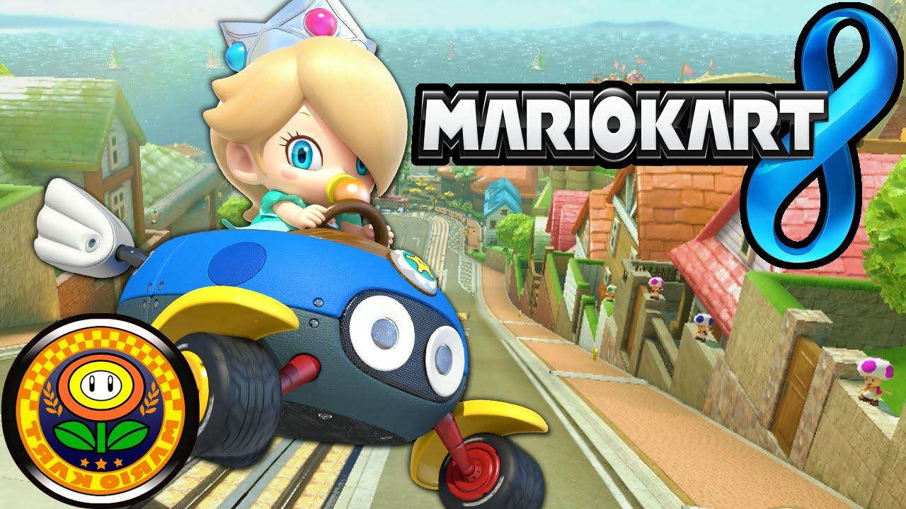 Mario Kart 8 Flower Cup Mirror Baby Rosalina Yoshi Bike Gameplay Walkthrough Part 20 Wii U Hd
