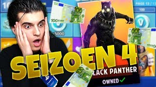 ALLE SEIZOEN 4 TIERS KOPEN😱! (14.100 V-BUCKS💰) FORTNITE BATTLE ROYALE (Nederlands)