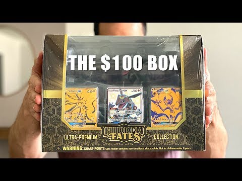 *THE $100 BOX OF POKEMON CARDS!* Opening ULTRA PREMIUM COLLECTION Box of HIDDEN FATES!