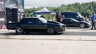 Chevrolet Corvette Z06 vs Blacklist '85 Buick GN 1/4mile drag race