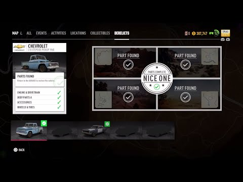 Need For Speed Payback C10 Stepside Pickup 1965 Parts