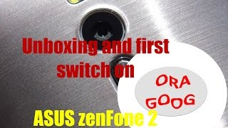 ASUS Zenfone 2 Unboxing and first switch on (deutsch/english)