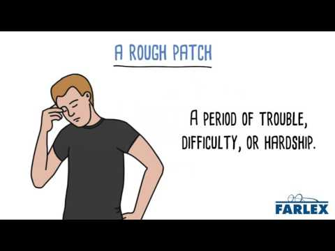 rough patch meaning in urdu