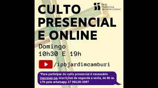 Assembleia Extraordinária 25/04/21    Escola Bíblica + Culto Matutino