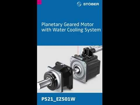 STOBER Geared Motor with Water Cooling System