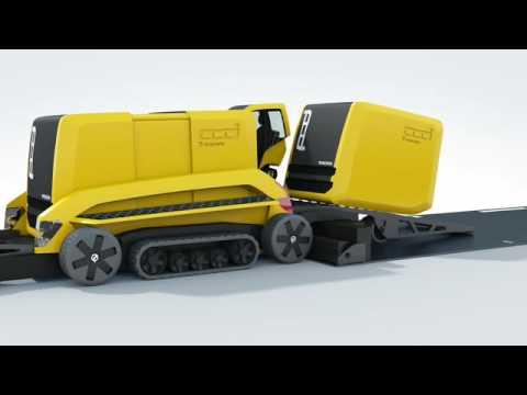 Volvo FENIX - Volvo's Futuristic Asphalt Paver Concept Machine