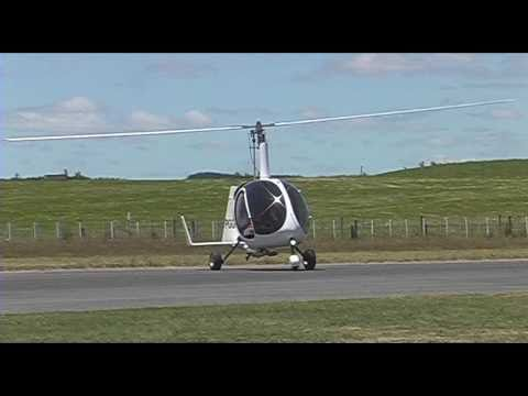 The test flight of a new UFO autogyro variant at Tokoroa Airfield