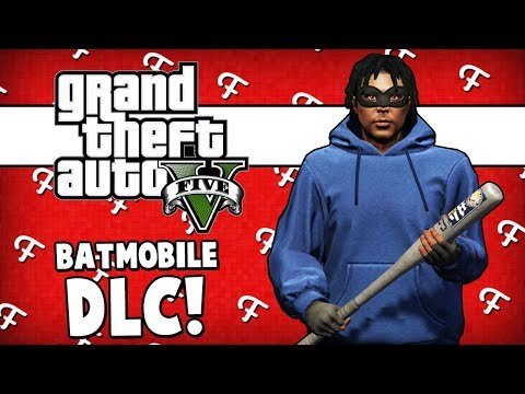 GTA 5: Wine Thief, Batmans Batmobile Car DLC, Ramping Across Lake Stunt (Online - Comedy Gaming)
