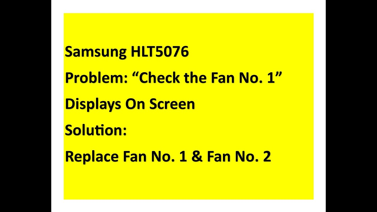 small resolution of samsung tv fan replacement