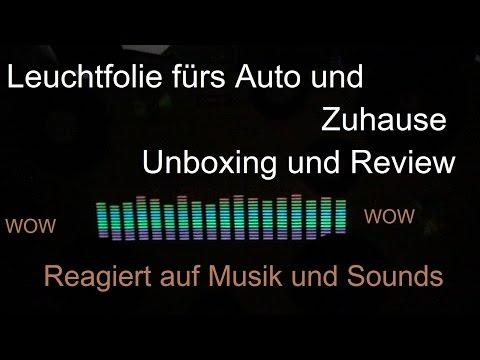 Leuchtfolie die auf Sound reagiert Unboxing / Review (Licht reagiert auf Musik)