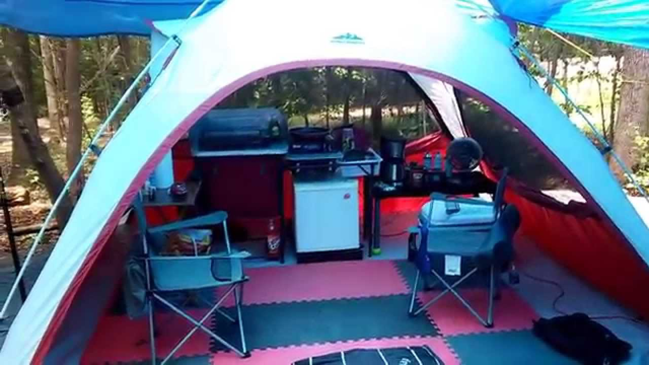 & Ozark Trail/NW Territory Tent Camping (luxury) - YouTube