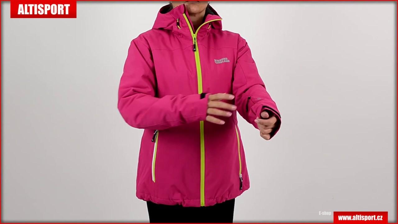 dámská zimní bunda nordblanc merit nbwjl5846 tmavě růžová - YouTube 8a0f6054ae