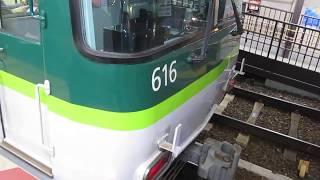 京阪 石山坂本線 700形 701-702 80型復刻塗装編成  京阪膳所 滋賀里  20191016