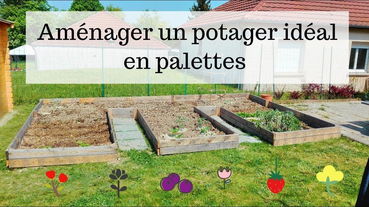 am nager un potager en palettes youtube. Black Bedroom Furniture Sets. Home Design Ideas