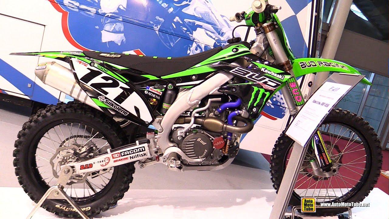 2015 Kawasaki KXF450 Team Bud Racing Motocross Bike - Walkaround - 2015  Salon de la Moto Paris