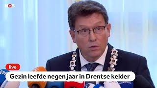 LIVE: Burgemeester over gezin dat jaren in kelder leefde in Ruinerwold, Drenthe