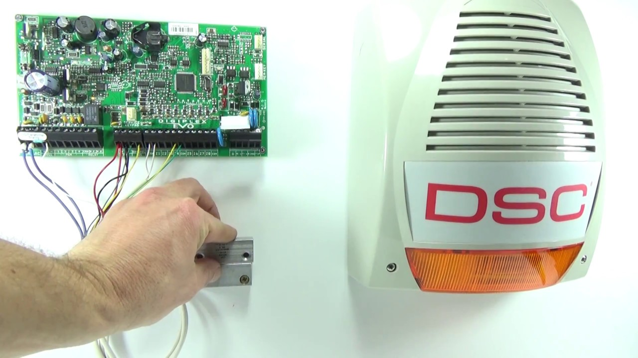 outdoor dsc bentel bell siren wiring on paradox alarm panel evo magellan spectra youtube [ 1280 x 720 Pixel ]