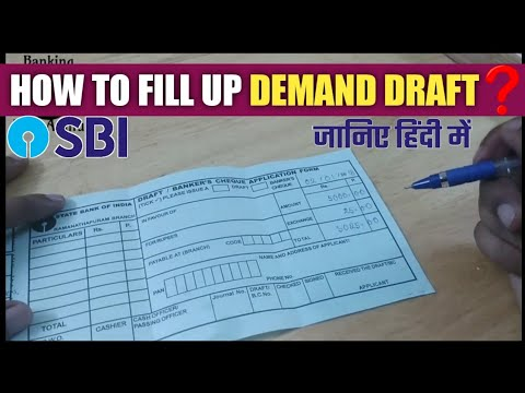 How to fill Demand Draft form( In HINDI)