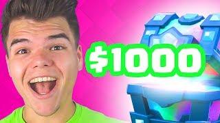 $1000 SPENDING SPREE CLASH ROYALE!