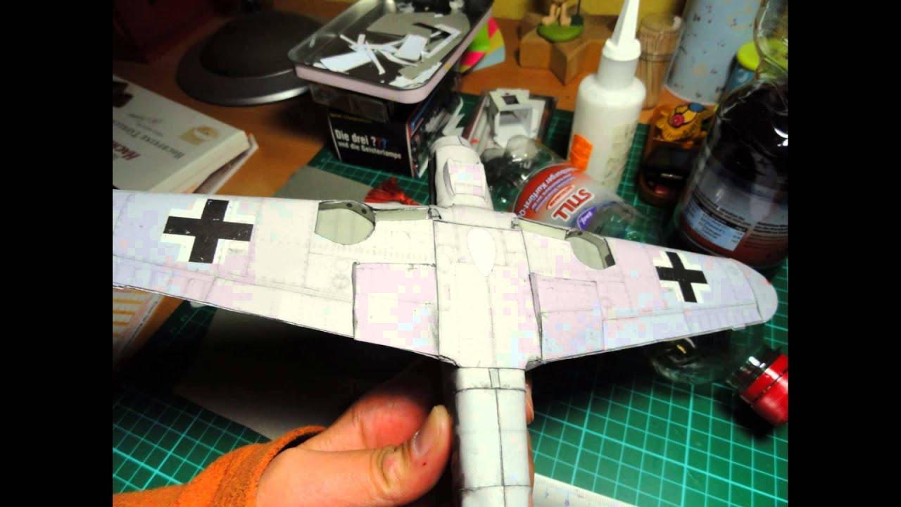 Papermodel - Messerschmitt Bf-109 G8 - Modelik