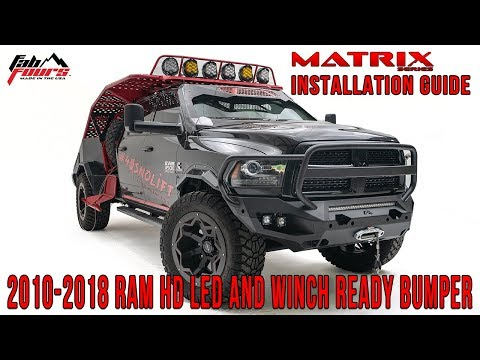 matrix-series-front-bumper-install:-new-2019-led-light-and-winch-ready-front-bumper