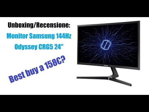 """Miglior monitor della fascia media? (Unboxing/Recensione Samsung Odyssey CRG5 24"""" 144Hz)"""