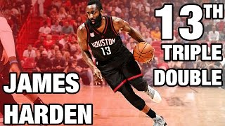 James Harden 13th Triple Double | 40 Pts, 12 ...