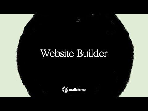 Use Mailchimp's Website Builder