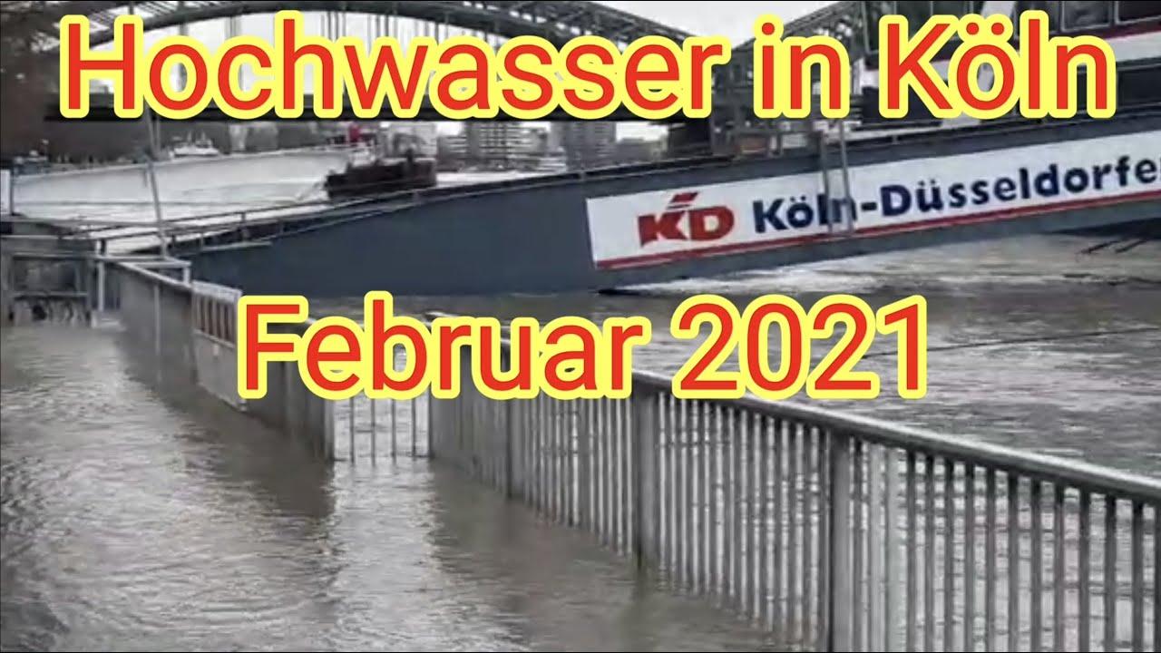 Hochwasser in Köln im Februar 2021 / Rhein - Altstadt ...