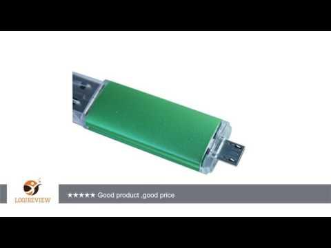 U-DriveShop 2in1 OTG 16GB Memory Stick Pen Drive 16GB USB Flash Drive 16GB Thumb Drive (Green A) for