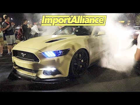 Import Alliance 2017 Day 2 - Event & After Meet - Mustang RUNS From Cops!