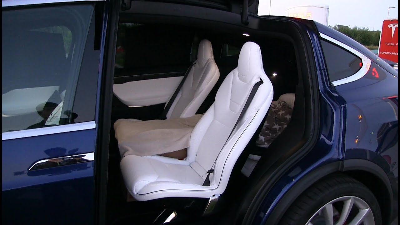 first time sleeping in tesla model x youtube. Black Bedroom Furniture Sets. Home Design Ideas