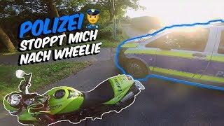 Polizei stoppt mich nach Wheelie!!! - MotoVlog