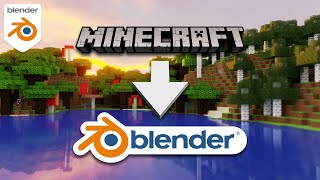 How to Import a Minecraft World into Blender