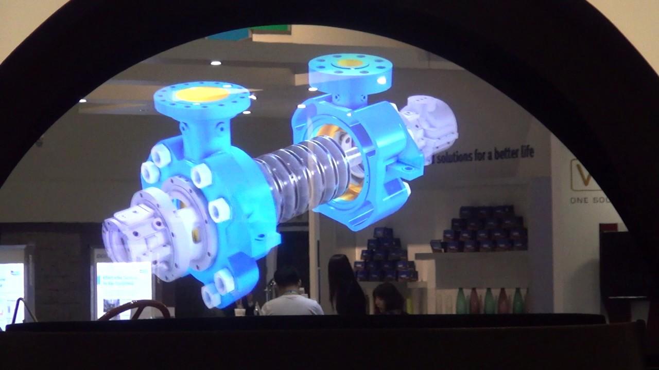 Large 3D Hologram Projector at Power Gen 2016