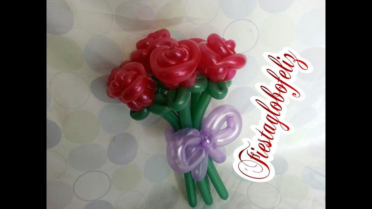 Como hacer un ramo de rosas peque as con globos youtube - Como hacer ramos de flores ...