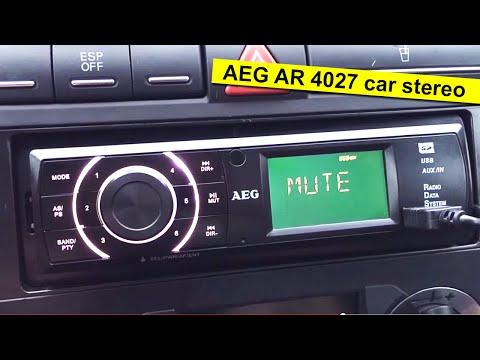 AEG AR 4027 car stereo