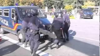 Streik in Spanien: Polizei setzt Gummigeschosse ein
